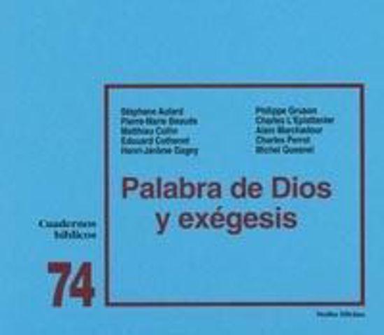 Foto de PALABRA DE DIOS Y EXEGESIS #74