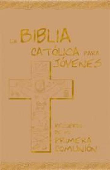 Foto de BIBLIA CATOLICA PARA JOVENES (PRIMERA COMUNION PLATEADO)