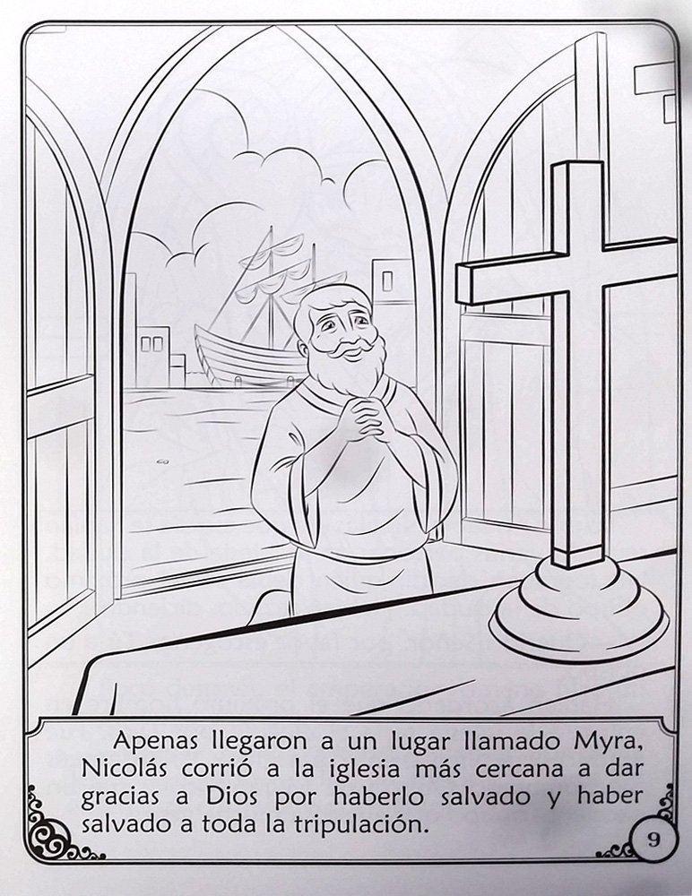 Foto de RELATO DE SAN NICOLAS LIBRO DE CUENTOS PARA COLOREAR